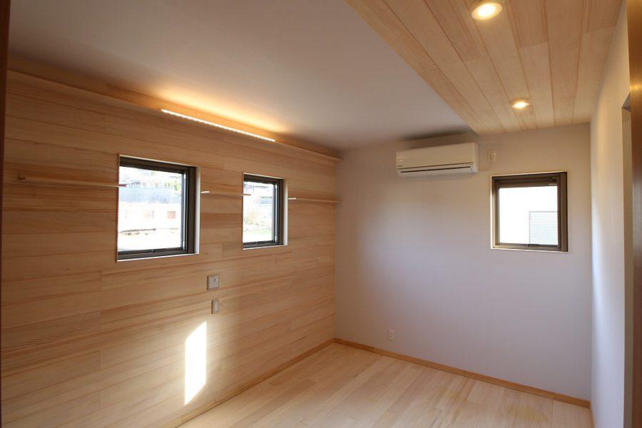 主寝室はもみの木効果で快眠できます