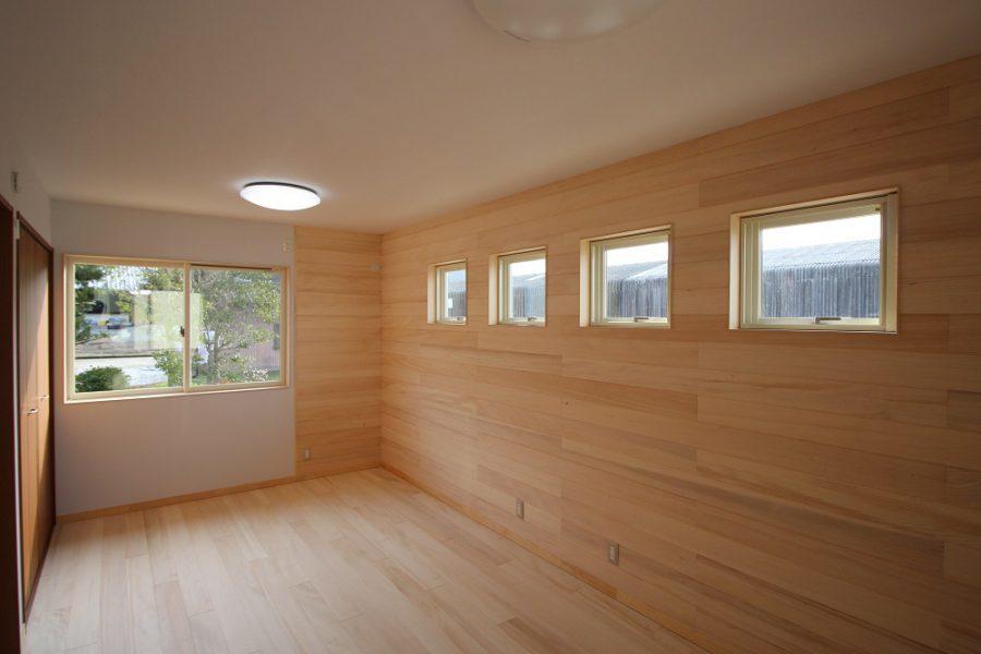 子供室は将来、間仕切りができるように設計